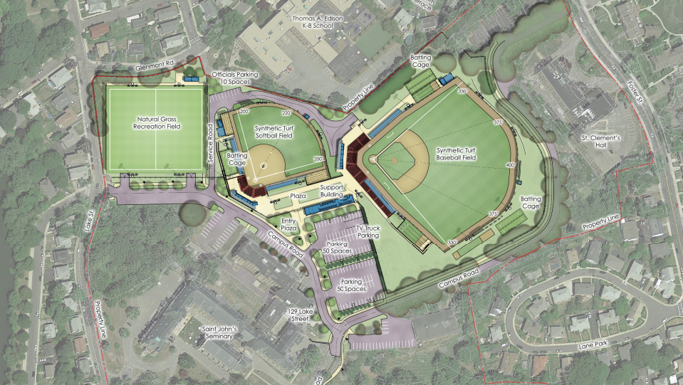 Boston College Pitches Plan For Baseball Softball Fields As M - Us map of baseball stadiums