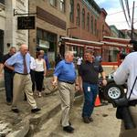 Larry Hogan: Progress visible in Ellicott City, still a 'long way to go'
