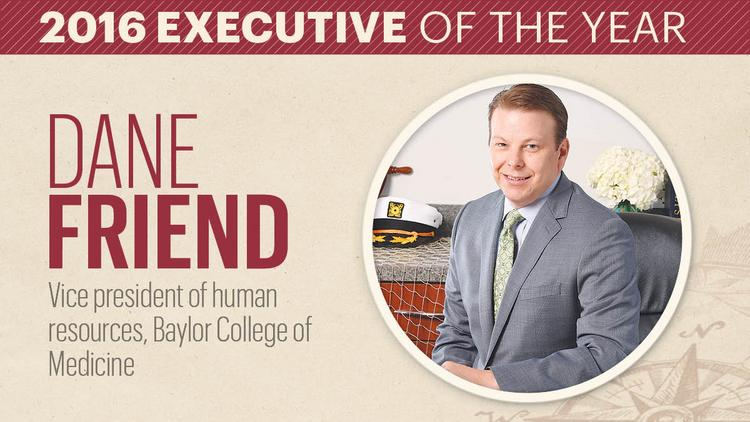 Baylor College Of Medicine S Dane Friend Named Executive Of The Year
