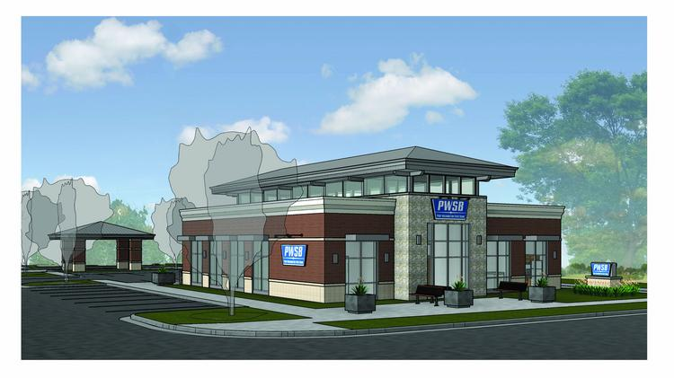 A rendering of the new Thiensville branch.