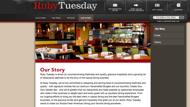 Ruby Tuesday Is Closing About 13 Percent Of Its 724 Total Restaurants Following A Review