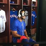 <strong>Elvis</strong> <strong>Andrus</strong> enjoys experiencing an <strong>Elvis</strong> <strong>Andrus</strong> walk-up in new Rangers virtual reality fan experience