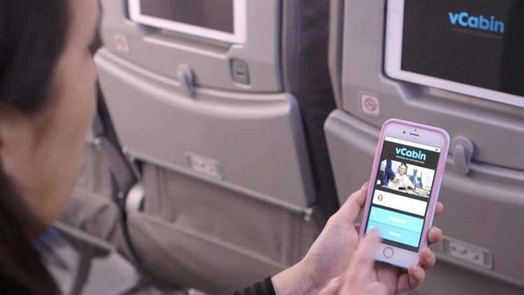 A lab in Everett is developing the technology that passengers will enjoy in the jet cabin of the future, including a smartphone app that puts many cabin functions at passengers' fingertips.