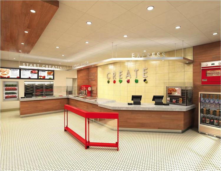 The new Papa Murphy's prototype features an open floor plan that engages customers.
