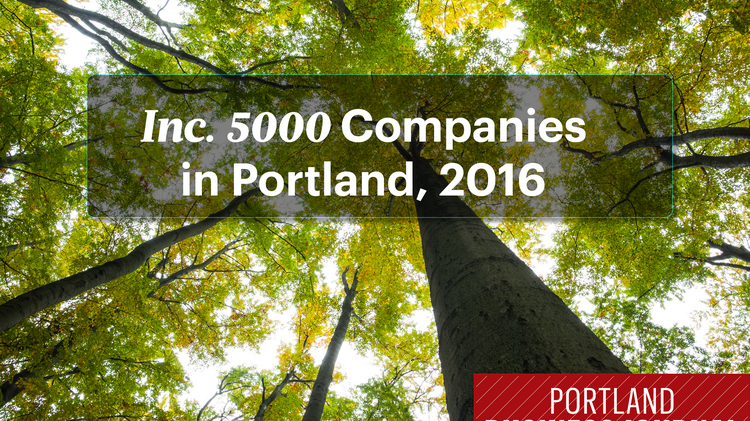 Click on the images to see the 59 Portland-area companies with 3-year growth rates fast enough to earn them a spot on this year's Inc. 5000 list.