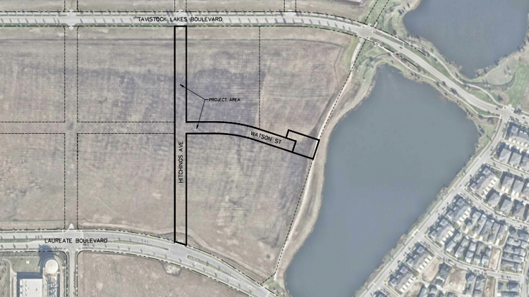 Hitchings Avenue and Watson Street will create access to a new age-restricted community planned in Lake Nona.