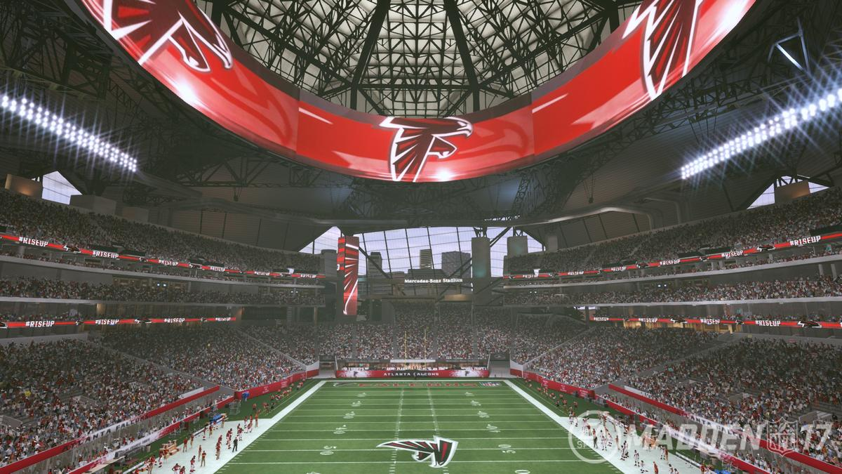 Madden nfl 17 to offer first glimpse into mercedes benz for Atlanta ga mercedes benz stadium
