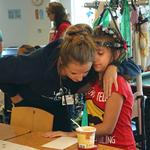 Scenes from a <strong>young</strong> scoliosis patient's 'Halo Off Party' (Photos)