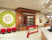 The new Papa Murphy's stores are designed to showcase the pizza brand's fresh ingredients.