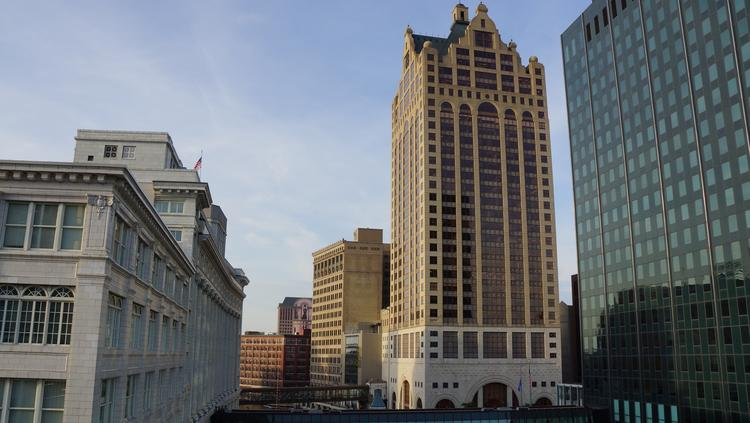 The 100 East office building in downtown Milwaukee