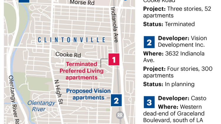 Clintonville apartment projects finding no easy sewer fixes strongabout those clintonville apartments strongafter plans malvernweather Choice Image