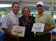 St. Louis Arc's 7th Annual Autism Invitational golf tournament Aug. 22 raised over $200,000 for the nonprofit, which provides support for individuals with  intellectual and developmental disabilities and their families. Event co-chairs were, from left: Dan Kelley, Jo Ann Kindle and Tom Caruso.