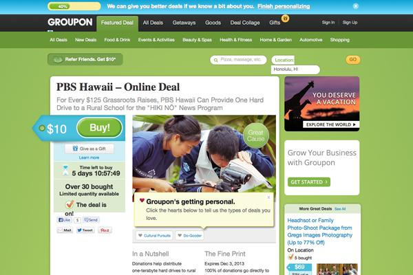 """PBS Hawaii's """"Hiki No"""" campaign was featured as one of Honolulu's daily deals Thursday on Groupon."""