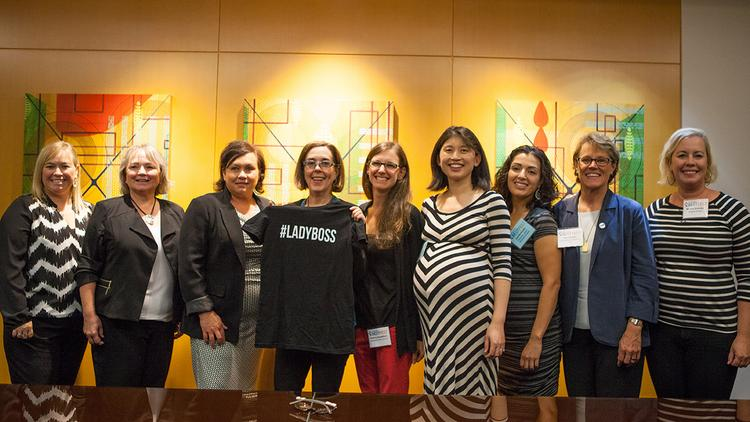 Gov. Kate Brown (fourth from left) hit last year's BEST FEST.