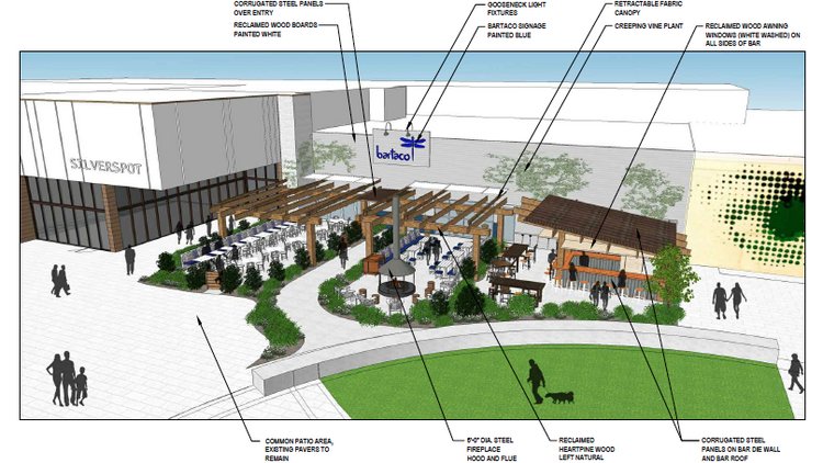 Architectural Drawings For A New Bartaco Restaurant At University Place In Chapel Hill Have Been Submitted