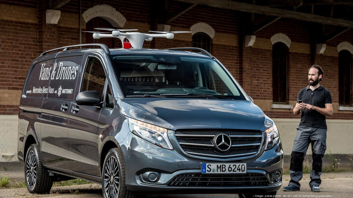 Mercedes benz teams with silicon valley startup on delivery drone deploying vans silicon valley business journal