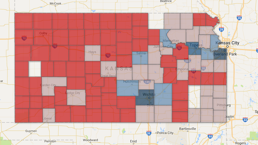 Which Counties Pay The Most Taxes In Kansas Youve Probably - Property tax map us 2016