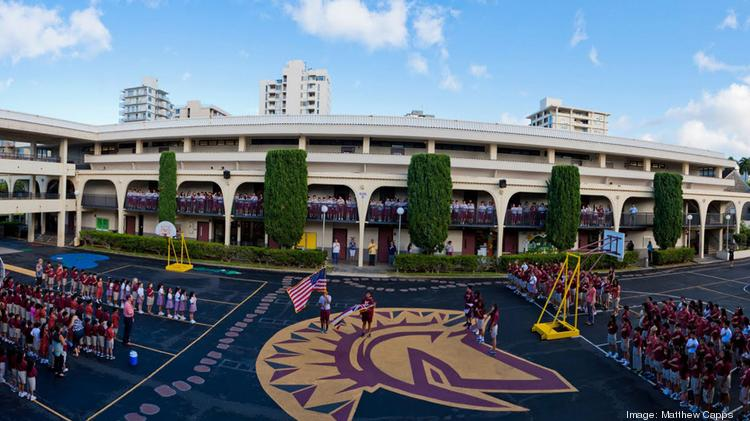 A panoramic view of the Maryknoll School's elementary school campus. The private Roman Catholic school, which serves students from kindergarten through 12th grade, has increased its scholarship program from one $10,000 award to 16 awards totalling $40,000.