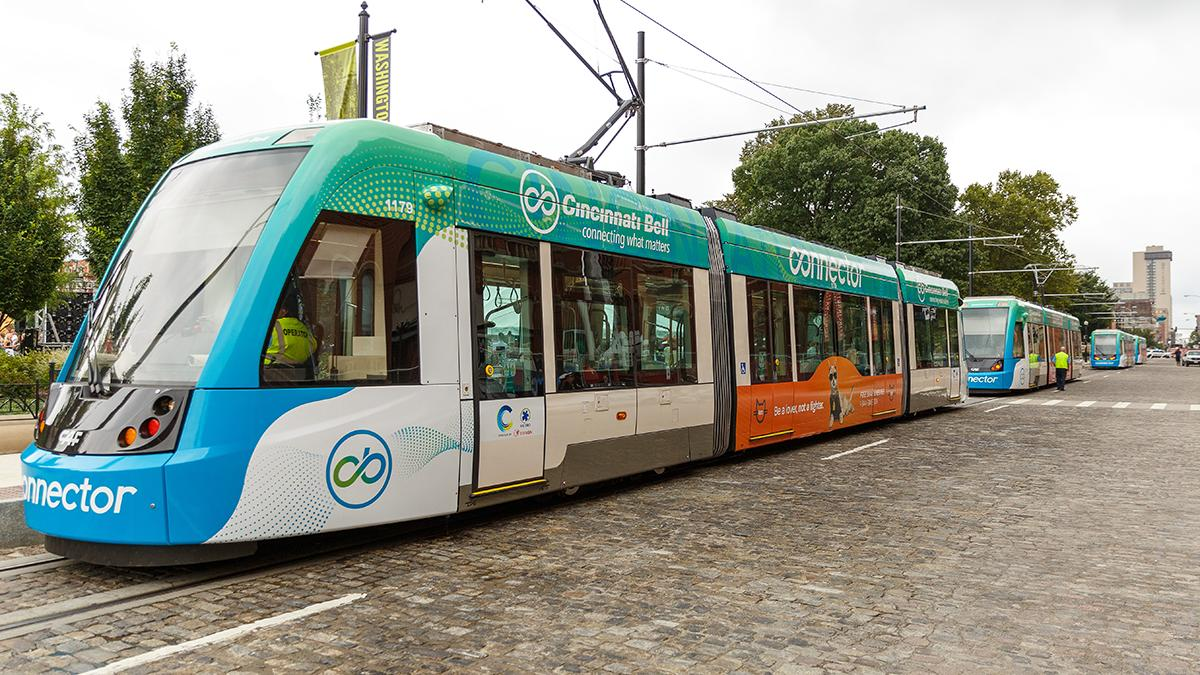 Cincinnati streetcar escapes maintenance facility