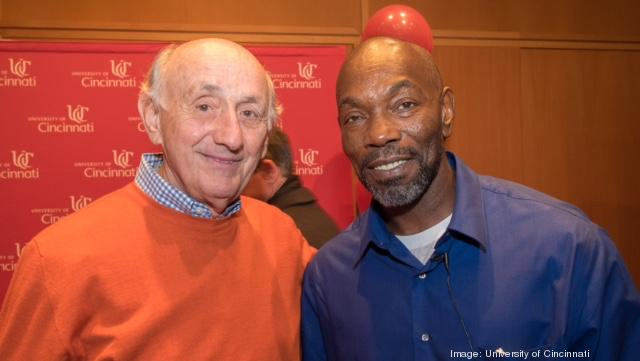 Richard Rosenthal, left, poses with exoneree Ricky Jackson. Jackson was freed after 40 years behind bars with the help of the Ohio Innocence Project.