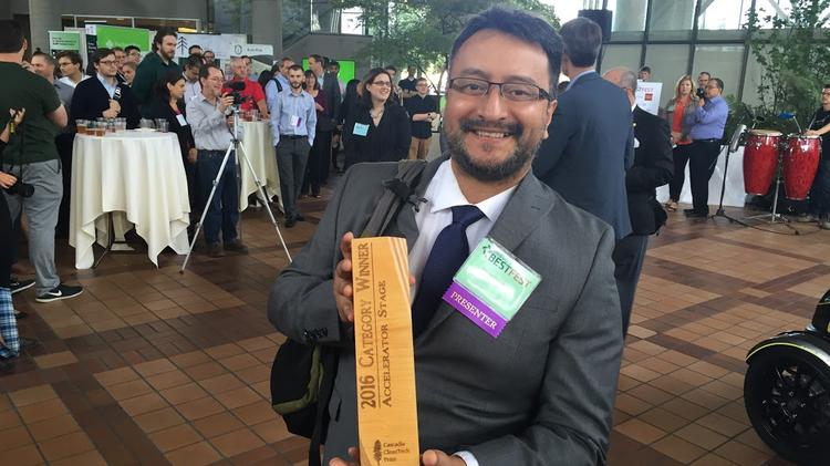 Hector Dominguez is director of engineering at SmartVineyards, which won the Cascadia CleanTech prize for accelerator-stage companies.