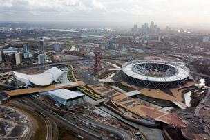 The London 2012 Olympic Park is seen in London in this handout photograph dated Dec. 5, 2011.