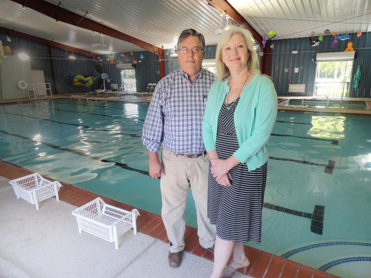 Bruce McMordie, co-owner, and Kathleen McMordie, co-owner and CEO of Texas Swim Academy: 'We have all our eggs in one basket, and from a personal aspect that's scary. But it's good. I wouldn't change anything.'