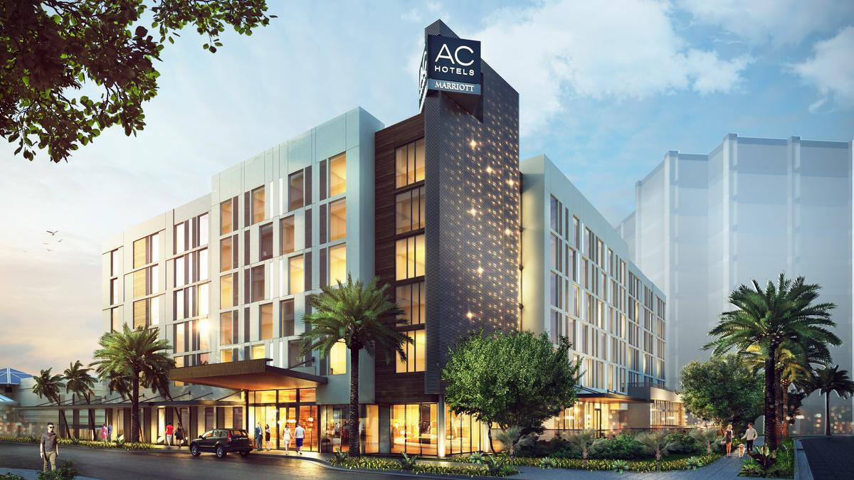 Ac Hotel By Marriott Tampa Airport In Wests Breaks Ground Rendering Bay Business Journal