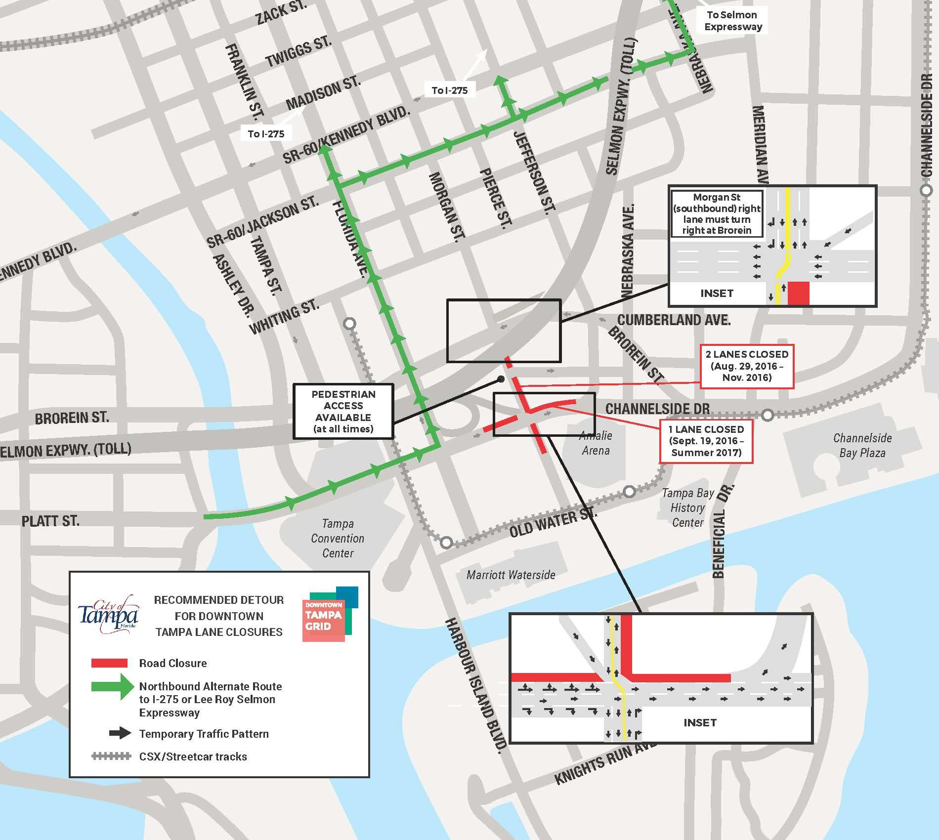 Channelside Drive road closures to begin Tampa Bay Business Journal