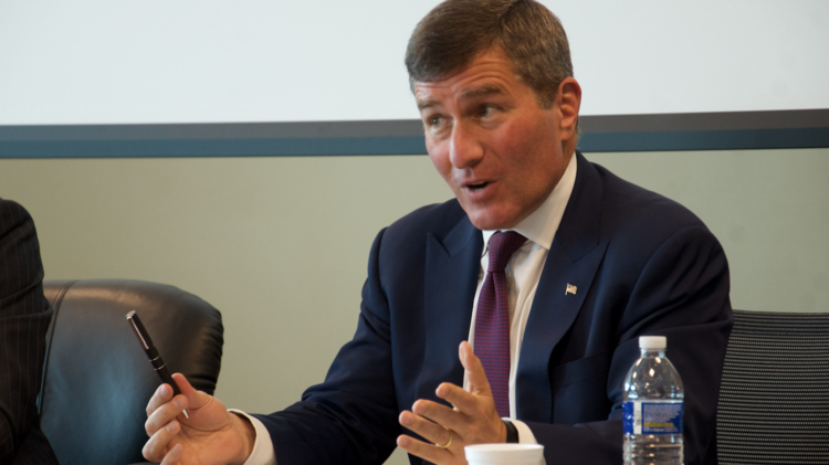 Charles Rivkin, assistant secretary of state for economic and business affairs, speaks at an Austin luncheon on Sept. 13 in support of the Trans-Pacific Partnership trade agreement.