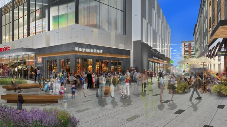 South Carolina-based retail developer Edens has a $200 million redevelopment underway at Dorchester's South Bay Center. The expansion will more than double the size of the existing 545,376-square-foot shopping center. Retailers will include a flagship Wahlburgers and an AMC Theatre with IMAX.