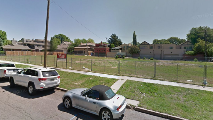 A Google Maps image of the parcel at 346 Milwaukee St. in Cherry Creek North.