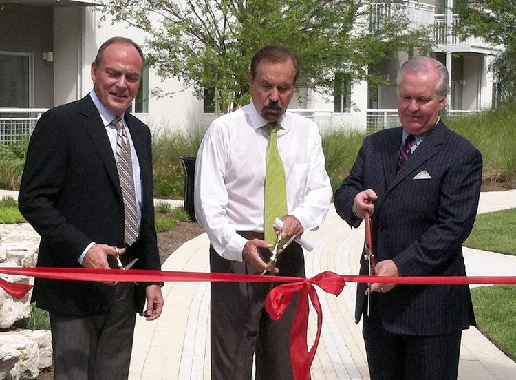 Related Group President of Development Steve Patterson; company founder and CEO Jorge Perez; and Tampa Mayor Bob Buckhorn.