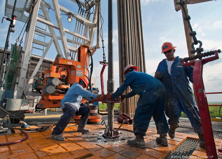 A new UT energy poll shows most Americans are less engaged about energy issues than six months ago. In this file photo, a drilling operation is show in the Eagle Ford Shale in South Texas.