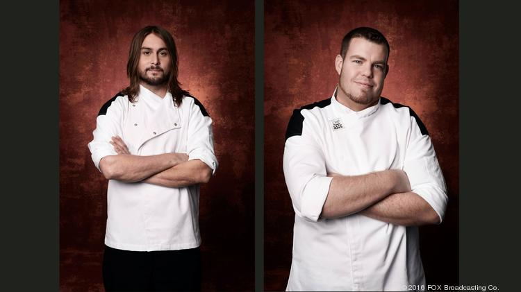 local chefs johnny mcdevitt left and andrew pearce will compete in the 16th season - Fox Hells Kitchen