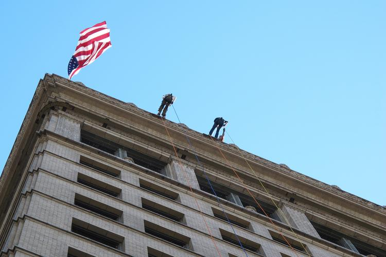 Members of the media and VIPs went over the edge on Thursday, with 50 more on Friday, the main day of the fundraiser.