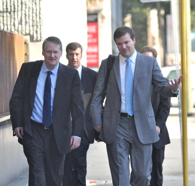 Attorneys for TD Bank arrive at the hearing, led by Dion Hayes of McGuireWoods.