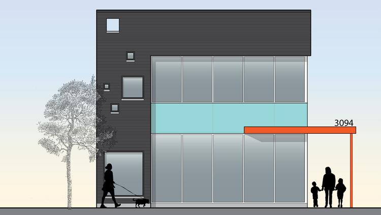Office Building Front Elevation : Mixed use building coming to oakley business district