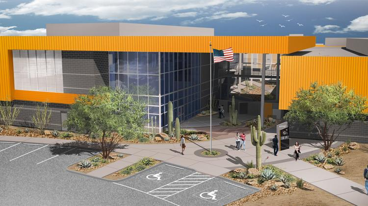 An artist rendering of Western Maricopa Education Center's Northwest Campus.