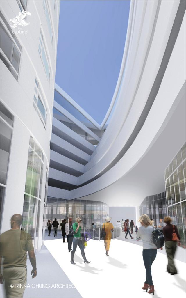 Rendering of The Couture project on the site of the Downtown Transit Center in Milwaukee. The Milwaukee Symphony Orchestra had been invited to join the project by locating a performance hall within the tower, but the MSO could not make a commitment within the developer's schedule.