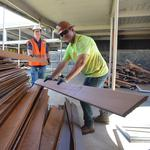 Re-use Hawaii helps salvage material from Punahou deconstruction