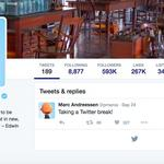 <strong>Marc</strong> <strong>Andreessen</strong> deletes tweets, takes a Twitter break