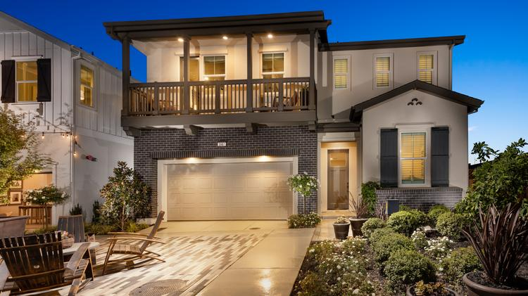 One of the model homes in Trumark Communities' Fielding project, which is one of the eight communities in the Wallis Ranch redevelopment in Dublin. Homes range from 1,809 to 2,685 square feet, and three to five bedrooms.