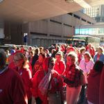 Allina nurses stage protest outside General Mills shareholder meeting