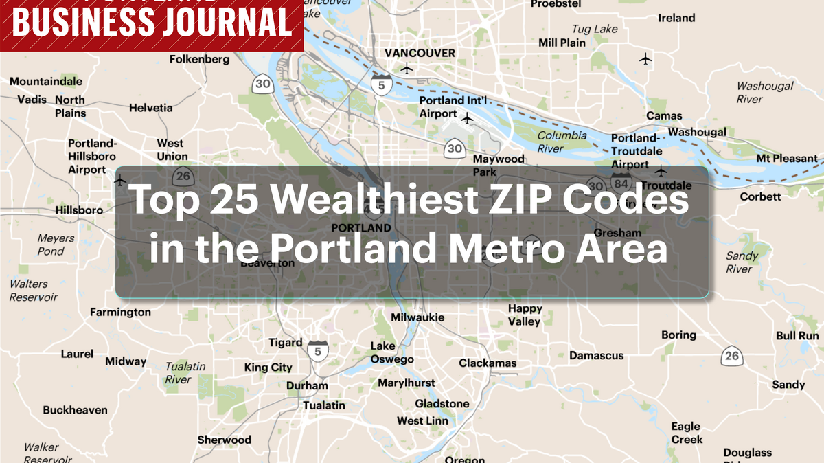 Is Your ZIP Code One Of Portlands Wealthiest MapSlideshow - Washington dc map by zip code