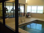 The fitness center, which doubled in size, offers 14th-floor views of downtown Minneapolis.