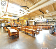 An interior of the Hofbrauhaus at Newport can be seen via Google Business Photos, a program that provides a 360-degree tour of a company's facility that can be posted online.