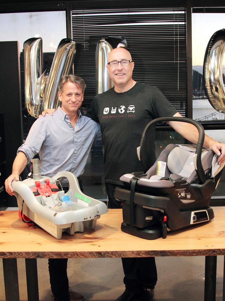 4moms CTO Henry Thorne Left And CEO Rob Daley With The Self Installing