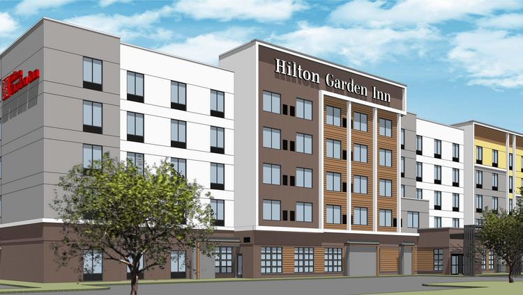 Work Will Begin Soon On A Five Story Hilton Garden Inn Next To Mall St