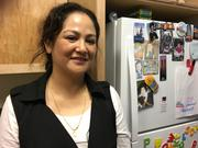 "Before moving to Onizuka, Edith Ramirez had to share a room with her three children in a two-bedroom apartment in order to afford rent. Ramirez, a freelance software quality assurance worker, pays $1,221 a month in rent for her three-bedroom apartment in Onizuka. ""The best thing is my kids have their own space."""